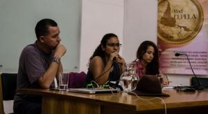 En la imagen de izquierda a derecha César Jérez, Francis Corrales y Maritza Agudelo